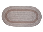Bristol 7 Piece Braided Rug Set in Sandstone