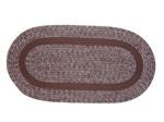 Bristol 7 Piece Braided Rug Set in Brown