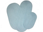 Barrington 3 Piece Braided Rug Set in Light Blue