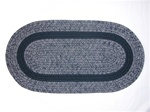 Bristol 3 Piece Braided Rug Set in Navy