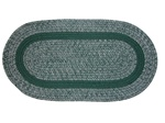 Bristol 3 Piece Braided Rug Set in Hunter Green