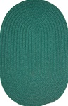 "Veranda 16"" x 16"" Braided Rug Chair Pad in Hunter Green Solid"