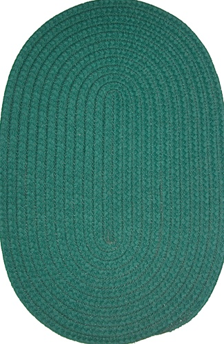 Veranda 16 Quot X 16 Quot Braided Rug Chair Pad In Hunter Green Solid