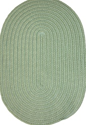 "Veranda 16"" x 16"" Braided Rug Chair Pad in Lime Green Solid"