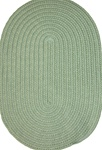 "Veranda 27"" x 48"" Braided Rug in Lime Green Solid"