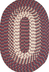 "Hometown 30"" x 50"" Braided Rug in Burgundy"