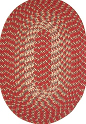 "Hometown 24"" x 60"" Braided Rug in Colonial Red"