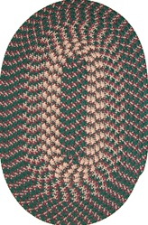 "Hometown 24"" x 60"" Braided Rug in Hunter Green"