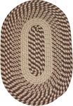 "Plymouth 20"" x 30"" Braided Rug in Country Braid Natural"