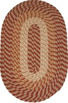 "Plymouth 20"" x 30"" Braided Rug in Country Braid Green"
