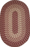 "Plymouth 20"" x 30"" Braided Rug in Country Braid Wine"