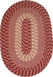 "Plymouth 20"" x 30"" Braided Rug in Country Braid Red"