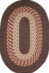"Plymouth 20"" x 30"" Braided Rug in Chestnut Brown"