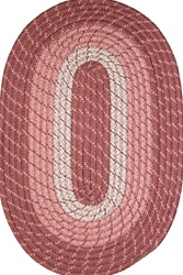 "Plymouth 20"" x 30"" Braided Rug in Light Rose"