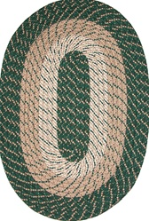 "Plymouth 20"" x 30"" Braided Rug in Hunter Green"
