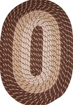 "Plymouth 30"" x 50"" Braided Rug in Brown"