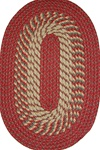 "Plymouth 30"" x 50"" Braided Rug in Barn Red"