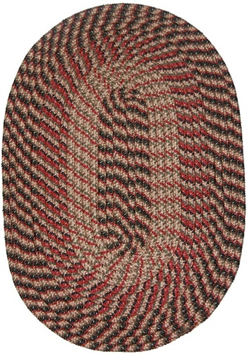 Round Braided Rug In Country Braid Black