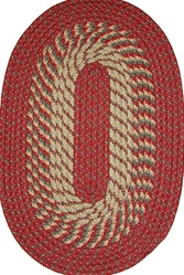 "Plymouth 24"" x 60"" Braided Rug in Barn Red"