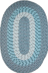 "Plymouth 24"" x 60"" Braided Rug in Blue Mist"