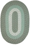 "Plymouth 24"" x 60"" Runner Braided Rug in Mist Green"