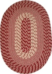 "Plymouth 22"" x 108"" Runner Braided Rug in Country Braid Red"