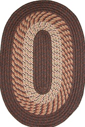 "Plymouth 22"" x 108"" Runner Braided Rug in Chestnut Brown"