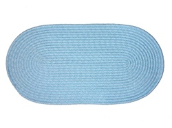 "Mystic 20"" x 30"" Braided Rug in Light Blue"
