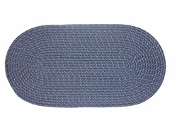 "Mystic 40"" x 60"" Braided Rug in Navy"