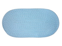 "Mystic 22"" x 108"" Runner Braided Rug in Light Blue"
