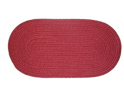 "Mystic 22"" x 108"" Runner Braided Rug in Barn Red"